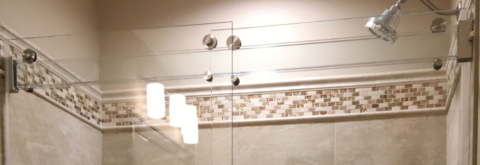 The 1st of its Kind - ALL GLASS Header Barn Style Shower Door