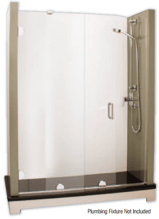 Headerless Rolling Shower Door System