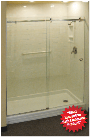 Destin Glass Barn Style Doors Hydroslide Bypass Showers