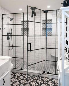grid style shower door