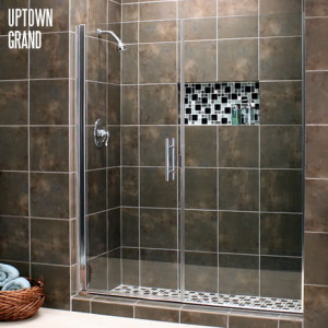 Destin glass 850 837 8329 glass shower doors and bath enclosures our uptown and uptown grand series semi frameless swing door with inline panel enclosures offer a wide range of options planetlyrics Gallery