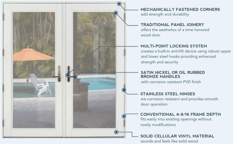 ... performance hurricane french doors  sc 1 st  DESTIN GLASS & PGT Custom Sliders and Windows by Destin Glass - Destin FL