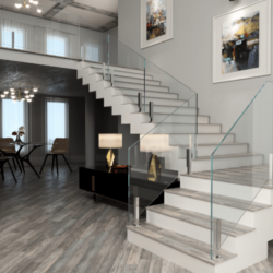 Glass Stairs or Stair Railing
