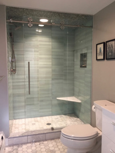 Glass Barn Door Shower Doors.Destin Glass Barn Style Doors Hydroslide Bypass Showers